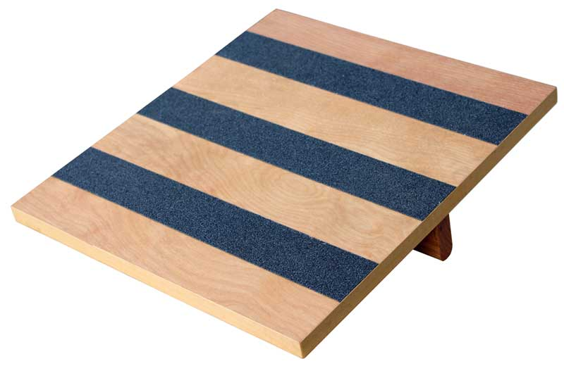 "Balance Rocker Board, 14"" X 15"" Wood with Traction Strips ..."