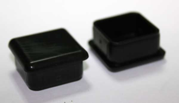 Quot square tubing plug cap will fit sq ga
