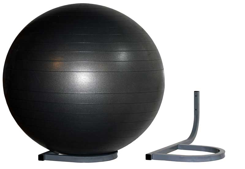 Bon Wall Mount Storage Rack For Inflated Exercise Balls, Holds 1 Therapy/Exercise  Ball