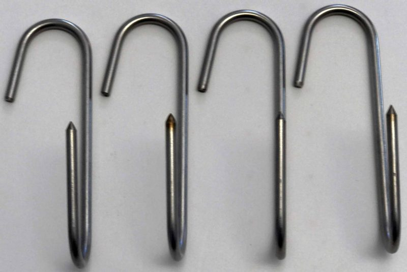 stainless smoker meat hooks 4 pack bbq grill
