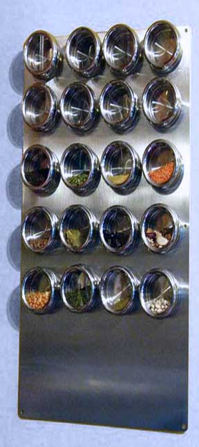 Spice Tin Wall Base Stainless 12 Quot X 24 Quot For Magnetic