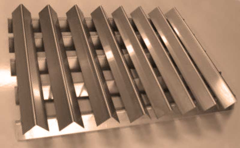 .062 Thick Weber Stainless Steel Flavorizer Bars #7537 HEAVY DUTY 16 Gauge